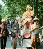 Culture parade. Nparade culture in Indonesia, they use batik clothing royalty free stock images