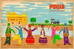 Culture of Punjab. Illustration depicting the culture of , India Stock Images