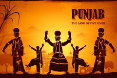 Culture of Punjab. Illustration depicting the culture of Punjab, India Stock Image