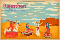 Culture of Rajasthan. Illustration depicting the culture of Rajasthan, India Stock Photo