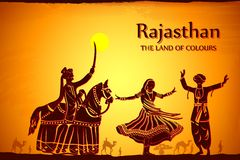 Culture of Rajasthan. Illustration depicting the culture of Rajasthan, India Stock Photos