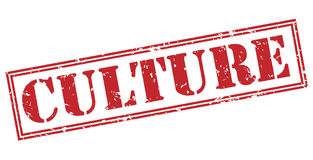 Culture red stamp. On white background Stock Image