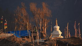 Culture Religion Ghyaru Himalayas stock video footage