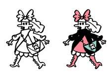 Culture secondaire gothique et ado de lolita Image libre de droits