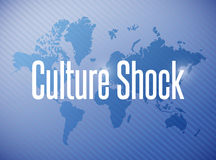 Culture shock sign illustration design Royalty Free Stock Images