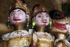 Culture traditionnelle de marionnette en bois de golek de Wayang de javanese Indonésie images libres de droits