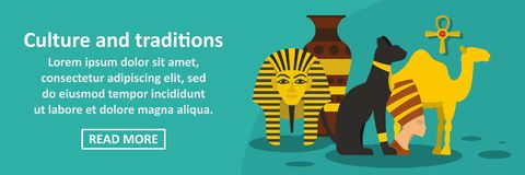 Culture and traditions egypt banner horizontal concept Stock Photography