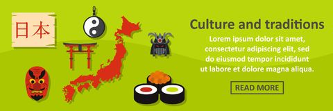 Culture and traditions japan banner horizontal concept Royalty Free Stock Images
