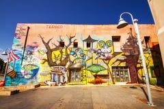 9 9 2016 - Culture urbaine dans la vieille ville de Rethymno - peinture murale moderne sur un mur de bâtiment Images stock