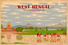 Culture of West Bengal. Illustration depicting the culture of West Bengal, India Royalty Free Stock Photography