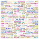 CULTURE. Word cloud concept illustration. Wordcloud collage Stock Photography