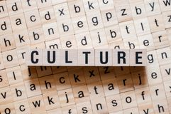 Culture word concept royalty free stock image