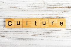 CULTURE word made with wooden blocks concept.  Stock Photos