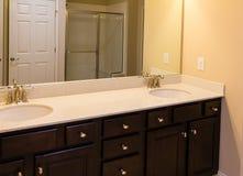 Cultured Marble Vanity. In new bathroom Stock Image