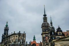 Cultureel erfgoed van Duitsland Oud koninklijk paleis in Tachenberg Dresden stock afbeelding