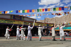 Culturele dans bij festival Ladakh Stock Afbeelding