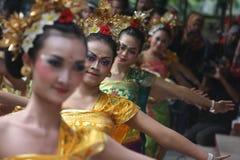 Culturele dansen van Bali Stock Foto's