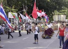 Culturele de Dansparade van het Buglasanfestival 2014 Stock Afbeelding