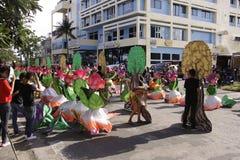 Culturele de Dansparade van het Buglasanfestival 2014 Stock Foto's