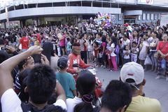 Culturele de Dansparade van het Buglasanfestival 2014 Stock Fotografie