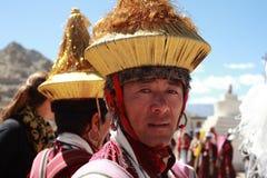 Culturele procesion tijdens festival Ladakh Royalty-vrije Stock Afbeeldingen