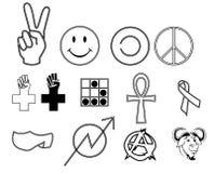 Cultures secondaires de caractères Images stock