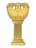 Culturista del torso en pedestal de la columna Escultura antigua clásica Fotografía de archivo libre de regalías