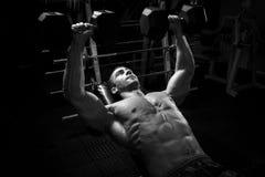 Culturista maschio, modello di forma fisica Fotografie Stock