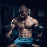 Culturista maschio, modello di forma fisica Fotografia Stock
