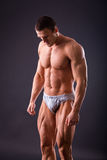 Culturista muscolare dell'uomo Immagini Stock