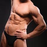 Culturista muscular hermoso Fotos de archivo libres de regalías
