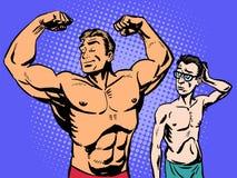 Culturista y aptitud fina del deporte del hombre libre illustration