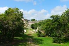 Cultuur Mexico Yucatan van Pyramide van Uxmal mayan ruïnes Royalty-vrije Stock Afbeeldingen