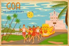 Cultuur van Goa royalty-vrije illustratie
