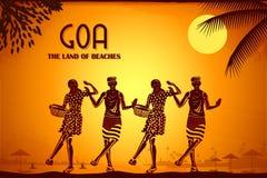 Cultuur van Goa vector illustratie