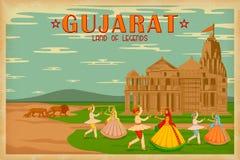 Cultuur van Gujrat stock illustratie