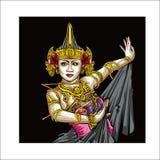Cultuur van Javanese Indonesisch vectorontwerp stock illustratie