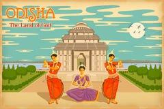 Cultuur van Odisha vector illustratie