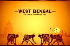 Cultuur van West-Bengalen vector illustratie