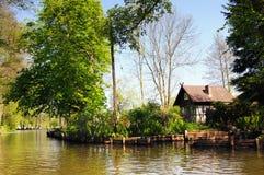 Cultuurlandschap van Spreewald-bos in Brandenburg Duitsland Stock Foto's