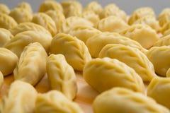 Culurgiones, Sardinian Pasta. Closeup of fresh tipycal ravioli made in Sardegna, Italy stock photos