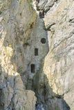 Culver孔,在洞的中世纪鸽房,高尔半岛 免版税库存照片