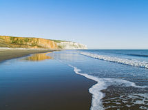 Culver cliff and ocean Royalty Free Stock Photo