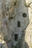 Culver Hole, medieval dovecote in a cave, Gower Peninsula. Royalty Free Stock Photo