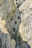 Culver Hole, medieval dovecote in a cave, Gower Peninsula. Rumoured to be a smuggler cave, Culver Hole was a dovecote dating back to thirteenth or fourteenth Royalty Free Stock Photo
