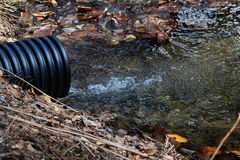 Culvert with clear water Stock Images