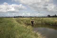 Culvert in a ditch Royalty Free Stock Image