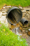 Culvert for diversion of surface water . Stock Photos