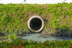 Culvert. That drain waste water to main canal royalty free stock photos