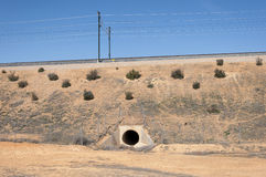 Culvert in the Madrid-Levante High-Speed Railway Royalty Free Stock Photo